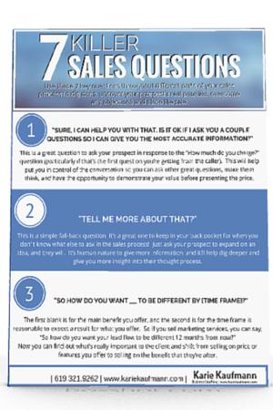 Website Download 7 Killer Sales Question 3D Image